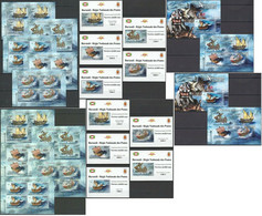 BU130 PERF,IMPERF 2012 BURUNDI TRANSPORT SAILING SHIPS 12KB+2BL+10 LUX BL MNH - Bateaux