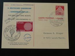 Entier Postal Stationery Vol SOS Kinderdorf Flight Ballon Heiligenberg Montgolfière Ballonpost 1970 (ref 95953) - Briefe U. Dokumente
