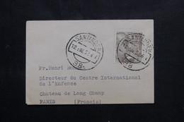 ESPAGNE - Petite Enveloppe De Santander En 1952 Pour Paris - L 73727 - 1951-60 Cartas