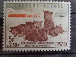 1957 - N° 1030 * - EXPEDITION ANTARCTIQUE, CHIENS DE TRAINEAU - Ongebruikt