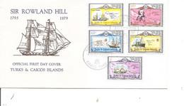 Rowland Hill ( FDC Des Turks Et Caiques De 1979 à Voir) - Rowland Hill