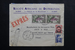 ALGÉRIE - Enveloppe Commerciale En Exprès De Alger Pour La France En 1952 - L 73743 - Covers & Documents