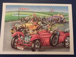 Old Postcard. Dachshund - Dachshound - Teckel - Dackel - Bassotto   - Racing - Altre Illustrazioni