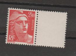 FRANCE / 1945 / Y&T N° 714 ** : Gandon 2F40 Rouge X 1 Inter-panneau à D - Francia