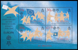 BL38** - Sainte-Hélène - 50ème Anniversaire 1er émission Europa / 50e Verjaardag 1e Europa-uitgave - Isola Di Sant'Elena