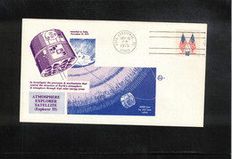 USA 1975 Space / Raumfahrt  Explorer 55 Atmosphere Explorer Satellite Interesting Letter - Stati Uniti