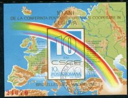 ROMANIA 1982 European Security Conference Block Used .  Michel Block 190 - Usati