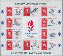 ** FRANCE - Blocs Feuillets - 14a, Non Dentelé: Jeux Olympiques D'Albertville 1992 - Sheetlets
