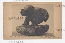 Format CPA - Art Cananéen - Hippopotame Découvert à BEISAN En 1926. - Fernand NATHAN - Ancient World