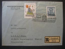 Österreich- Christkindl 12.12.1958 Reco-Beleg Mit Ankunftstempel - 1945-.... 2. Republik