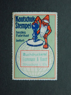 Reklamemarke Vignette Kautschuk Stempel Tampon Caoutchouc Eisenmann & Bauer Strassburg Elsass Strasbourg Alsace - Vignetten (Erinnophilie)