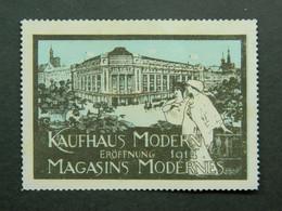 Reklamemarke Vignette Kaufhaus Modern Eröffnung Magasins Modernes Ouverture Strassburg Elsass Strasbourg Alsace 1914 - Vignetten (Erinnophilie)