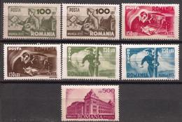 Rumania - Fx. 4172 - Yv. 836/42 - P.T.T. Servicio De Correos - 1945 - * - 1918-1948 Ferdinand, Charles II & Michael