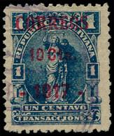 O BOLIVIE - Poste - 110, émission Provisoire De Cobija, 1917, Sur Timbre Fiscal, Certificat Photo P. Scheller: 10c. S. 1 - Bolivia