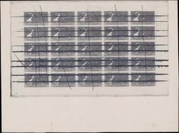 (*) BOLIVIE - Poste - 138, Non émis En Noir, Non Dentelé, Panneau Complet De 25 Avec Annulation Plume: 2b. Mercure - Bolivia