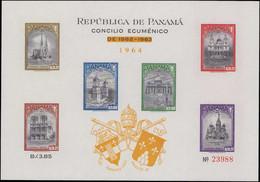 ** PANAMA - Blocs Feuillets - Michel 23 B A/b, Les 2 Couleurs De Surcharges (la Surcharge Jaune Est RRR): Concile œcumén - Panama
