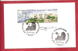 63 Eme Salon Philatélique D'automne  PARIS 2009 (signée) - 1999-2009 Illustrated Franking Labels