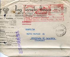 59555 Italia, Red Meter Freistempel Ema,1956 Ravenna, Rag.cornello Ghinazzi Macchine Agricole,agricultural Machinery - Affrancature Meccaniche Rosse (EMA)