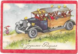 HANNES PETERSEN - Automobile Remplie De Lapins Et De Poussins PAQUES - Petersen, Hannes