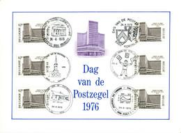 18176031 BE 19760424; Journée Du Timbre, Centre Monnaie à Bx; Fllet 6 ◙blit. Concordantes Cob1803 Nl - Libretti Di Lusso