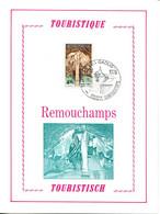 18176102 BE 19761023 Sougné-Remouchamps; Tourisme, Grottes; Fllet Luxe Cob1833 - Feuillets