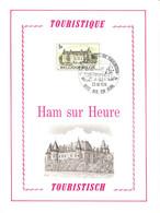 18176104 BE 19761023 Ham-s-Heure; Tourisme, Château; Fllet Luxe Cob1835 - Feuillets