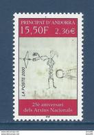 ⭐ Andorre Français - YT N° 539 - Neuf Sans Charnière - 2000 ⭐ - Neufs