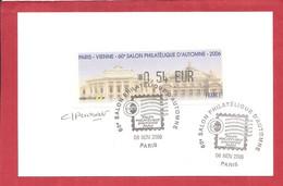 60 Eme Salon  Philatélique D'automne PARIS 2006 (signée) - 1999-2009 Illustrated Franking Labels
