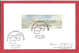Bilatérale FRANCE ALLEMAGNE NEVER 2006 (signée) - 1999-2009 Illustrated Franking Labels