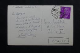"""ESPAGNE - Oblitération Temporaire  Du Congrès """" Pax Christi """" De Valladolid En 1956 Sur Cp Pour Paris - L 73788 - 1951-60 Cartas"""