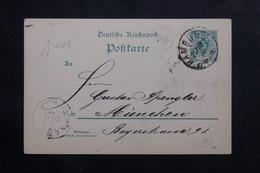 ALLEMAGNE - Entier Postal Avec Repiquage Au Verso De Hamburg Pour München En 1890 - L 73795 - Ganzsachen