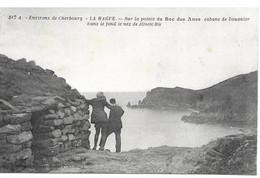 50   Cherbourg La Hague Sur La Pointe Du Bec Des Anes Cabane De Douanier Nez De Josbourg Animée - Andere Gemeenten