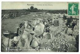 CPA - 28 - EPERNON - Carrières De Grés, Propriétaire Moulin - Métiers : Carriers - Meuliers - Epernon