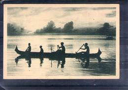 Iles Carolines. Canaques Sur Pirogue - Cartoline