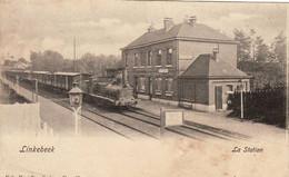 Linkebeek - La Station !!! Inkomende Trein !!!  - 1907 - Linkebeek