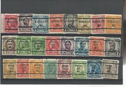 37547 ) USA Collection Precancel - Vorausentwertungen