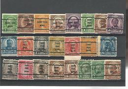 37548 ) USA Collection Precancel - Vorausentwertungen