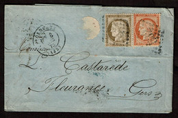 Carta Comercial Sellada De Bordeaux A Fleurance (Gers) De 1875 (VAR-0038) - Sin Clasificación