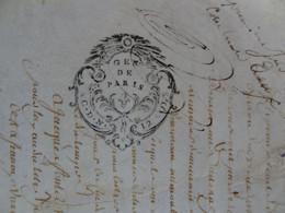 """1756 Généralité De PARIS Parchemin Timbré N°472 Actes Des Notaires """"AC.D.N. - 12 SOLS - Gebührenstempel, Impoststempel"""