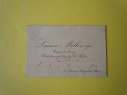 Carte De Visite Autographe Lucien MILLEVOYE (1850-1918) DEPUTE De PARIS. Anti Dreyfusard - Autographs