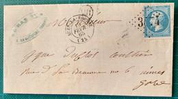 Drome - N°22 Oblitéré GC 3474 Cad T15 SUZE LA ROUSSE -OR = Rochegude -1865 - Cote 22€ - - 1849-1876: Klassieke Periode