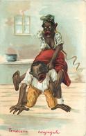 Négritude - Fantaisie - Illustrateur - Une Famille Noire - A Black Family - La Tendresse - Tenderness - 1900-1949