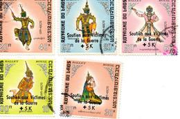 Folklore , Surchargés - Laos