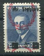 RC 18598 ALBANIE N° 219 PRÉSIDENT AHMED ZOGOU SURCHARGE DÉPLACÉE NEUF ** - Albanie