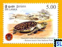 Sri Lanka Stamps 2013, Yala National Park, Turtle, MNH - Sri Lanka (Ceylon) (1948-...)