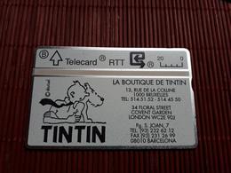P52 Tintin La Boutique 011 L(mint,Neuve) Rare ! - Without Chip