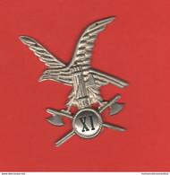 Milizia MVSN Distintivo Ventennio XI° Btg Con Fascio In Lamierino - Uitrusting
