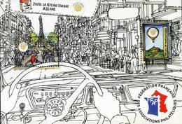 """FRANCE 2020 - Feuillet De Vignettes FFAP """"La Fête Du Timbre A 20 Ans"""" - Philatelic Fairs"""