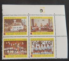 "PANAMA SCOTT RA 107/110 NEUFS**MNH AVEC BDF ""NOEL""  ANNÉE 1985 - Panama"