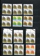 Belgie Andre Buzin Birds 3135 0.41€ Foutdrukken Dubbeldruk In Blokken Van 4 ZM RRR - 1985-.. Birds (Buzin)